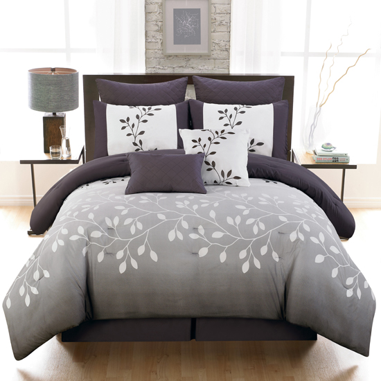 Eight Piece Reversible Comforter Sets