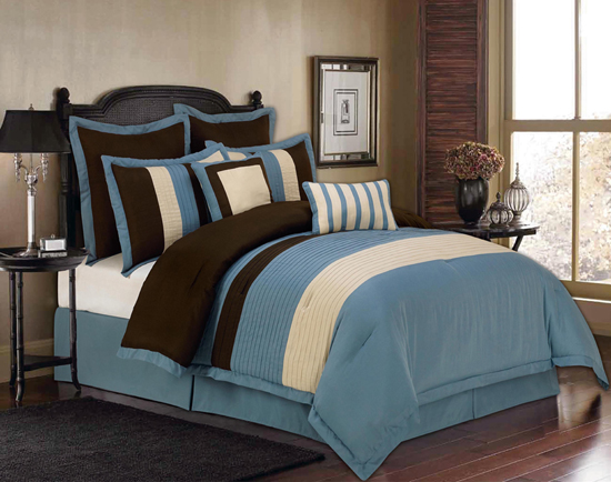 8 Piece Oversized Queen Comforter Set