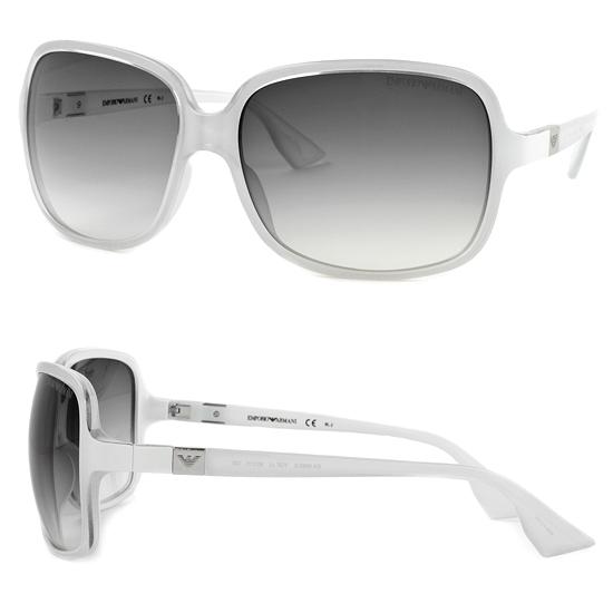 30127570bd6  39 for Emporio Armani Women s Sunglasses  Light Silver White Plastic  Frames