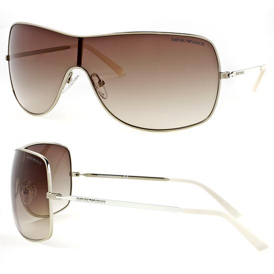 126907507067 $39 for Emporio Armani Women's Sunglasses: Light Gold Metal Frame, Brown  Gradient Lens (9818S-0216-CC-99) ($150 List Price)