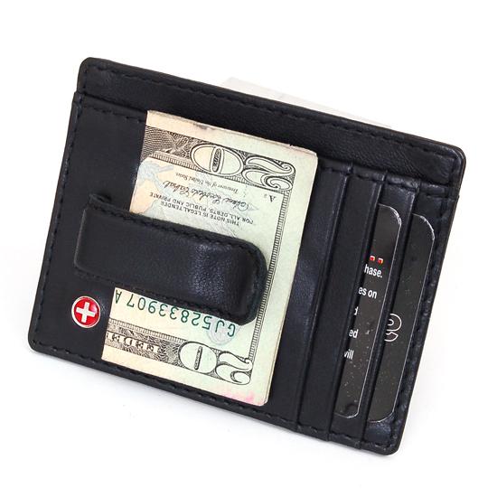 c751dc1b68d30 Alpine Swiss Men s Front Pocket Wallet Money Clip   Card Case in Black  (SW910E-BLK)