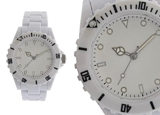 8febe6357 Geneva Women's Sports Collection Watch: White Plastic Band/White Dial  (27414XT)