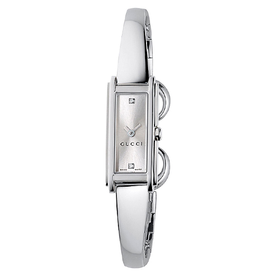 812405e6fd3  385 for Women s Gucci Watch with Stainless Steel Band and Silver Dial   YA109519 ( 850 List Price)