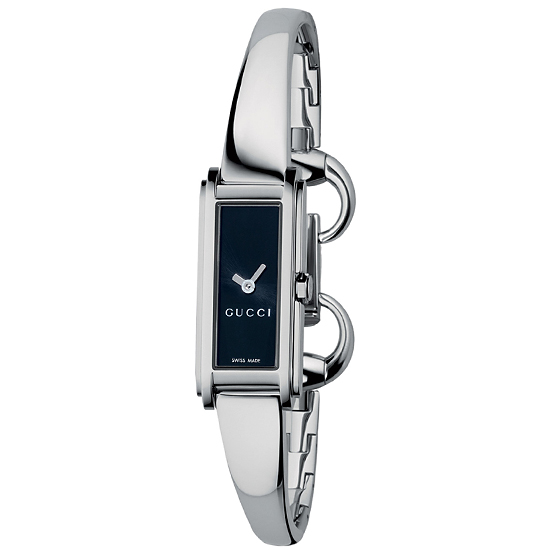 85dd5abde5b  325 for Women s Gucci Watch with Stainless Steel Band and Black Dial   YA109522 ( 750 List Price)