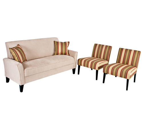 Handy Living Sofa With Two Nate Chairs