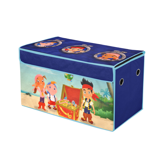 Disney Collapsible Storage Trunk Toy Box Organizer Chest: Children's Character Collapsible Toy Trunk