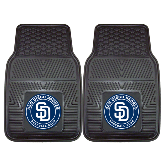 Fan Mats Two Piece Mlb Vinyl Car Mat Set