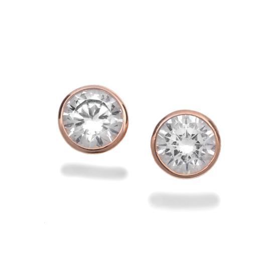 83354dbc5 Bezel-Set 1-Carat Simulated Diamond Stud Earrings in 14-Karat Plated Rose  Gold (GOE2583R-CZ) ($22.50 List Price)