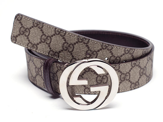 407c69b7c1c  219.99 for a Gucci Men s Fabric Belt in Blue with Brown Leather ( 290 list  price)