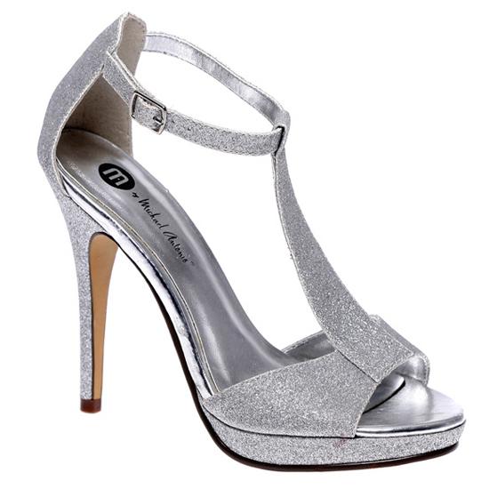 89823ca119889  23.99 for Michael Antonio  Tipton Glitter T Strap Platform Sandal  Silver  ( 49 List Price)