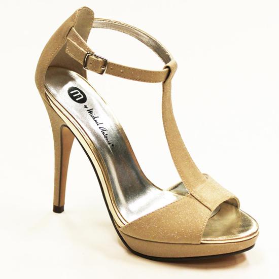 4e37a7cdde8db  23.99 for Michael Antonio  Tipton Glitter T Strap Platform Sandal  Nude  ( 49 List Price)