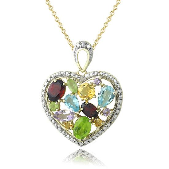 18k Gold Plated Gemstone Jewelry