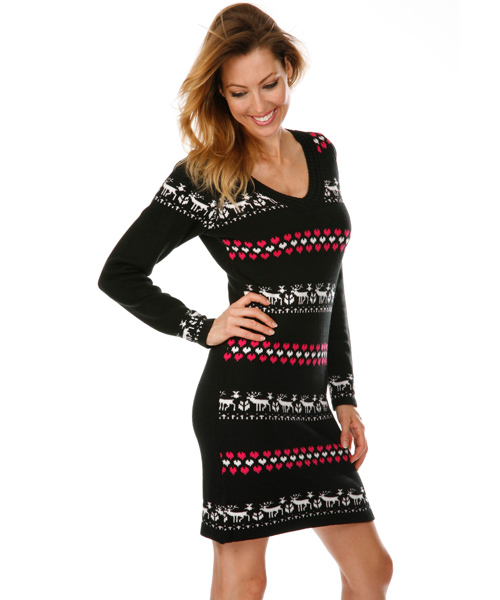 2fb0393fb1 Chicago Nordic Sweater Dress in Black