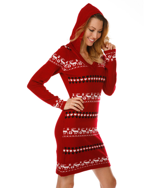 3a2e686851 New York Nordic Sweater Dress in Black and White