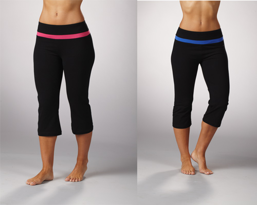 f4b4416d061b2 $24.99 for Bally Total Fitness Shape-Enhancing Tummy-Control Capris in Dazzling  Blue and Pink ($45 List Price)