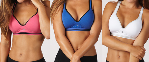 368904df2983d $24.99 for Bally Total Fitness Shape-Enhancing Keyhole Sports Bras in Pink, Dazzling  Blue, and White ($120 List Price)