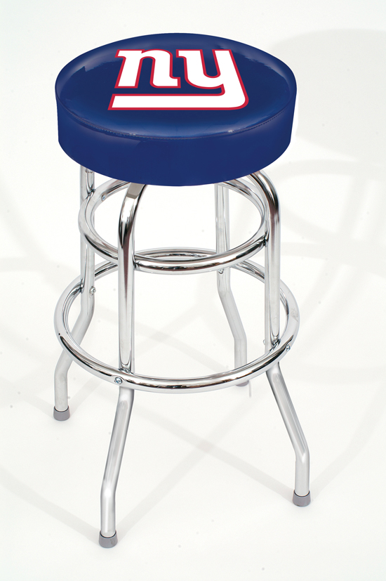 Nfl Chrome Barstools With Footrests