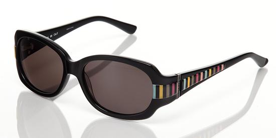50140e18672 Sonia Rykiel Women's Sunglasses: Black Stripe Frame, Grey Lens (SR7636.00)  ($325 List Price)
