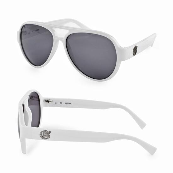 1d32fcda689  28.99 for Guess Men s Sunglasses  White (GUESSSUN-GU6672-WHT-3F-57-14)  ( 85 List Price)