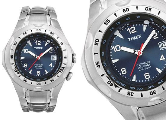 29 for Timex Men s Sport Analog Watch  Stainless Steel Band Blue Dial  (T19281) ( 74.95 List Price) 8b7c7e80193