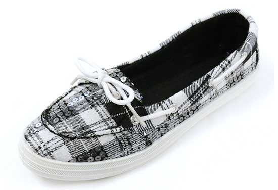 f5994b443a9bf6 Twisted Women's Sequin-Overlay Canvas Boat Shoes