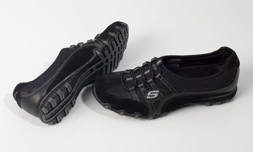 863f917b87f53  23 for Skechers Women s Casual Shoes  Bikers Team Pretty in Black Gray  ( 58 List Price)