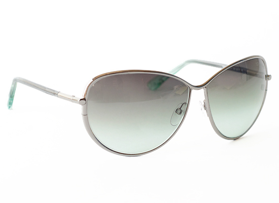 2e9f0179351fb Francesca Women s Sunglasses with Silver Frames and Green Lenses  (FT0181-14B) ( 420 List Price)