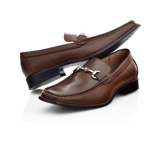 b0fb19a8148 Slip-On Dress Shoe with Silver Detailing–Brown