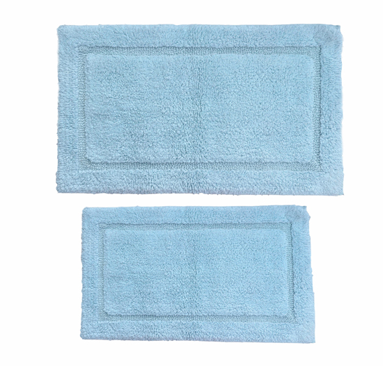 Plush Bathroom Rug Sets: Plush Cotton Bath Rug 2-Piece Set