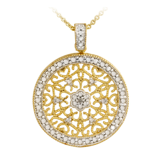 18 Karat Gold Plated Sterling Silver Necklaces