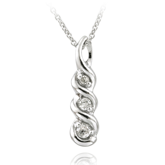Past Present Future Diamond Necklace