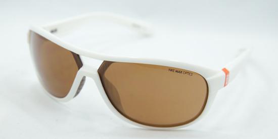 e113817b45ff5 Nike Unisex Sunglasses  White Frame Brown Lens (EV0613.102.65-15) ( 89 List  Price)